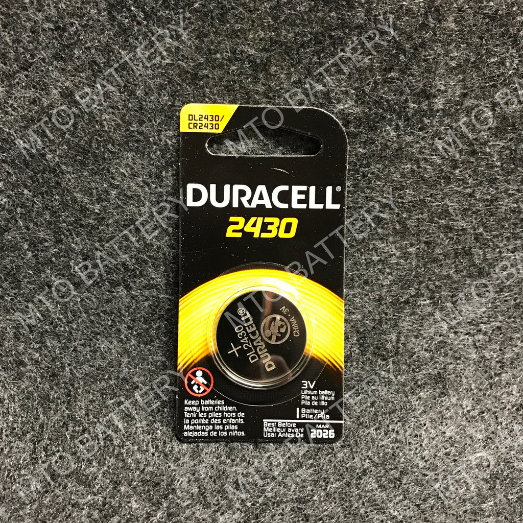 2430 Duracell 3V Lithium Coin Cell DL2430