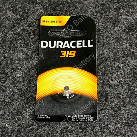 319 Duracell 1.5V Silver Oxide Coin Cell D319