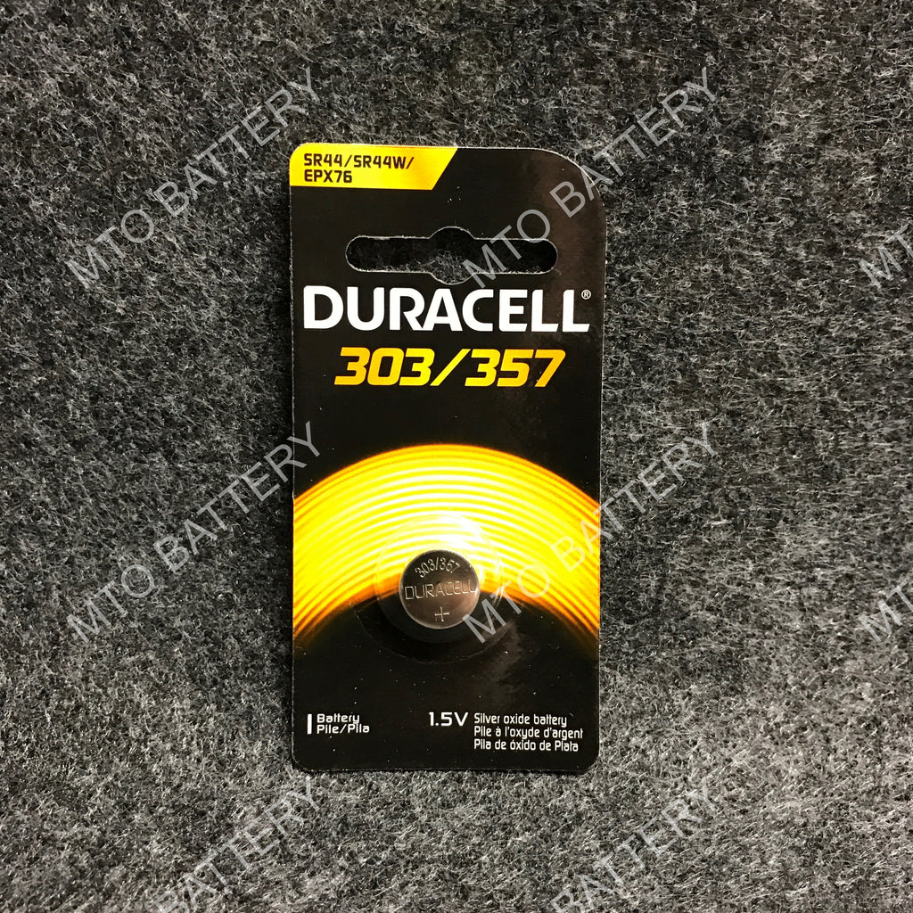 303/357 Duracell 1.5V Silver Oxide Coin Cell D303/357PK