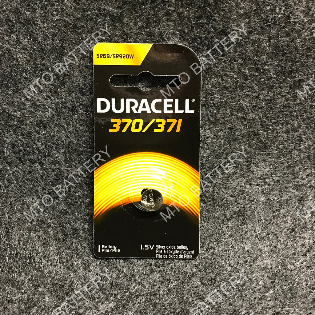 370/371 Duracell 1.5V Silver Oxide Coin Cell D370-371PK