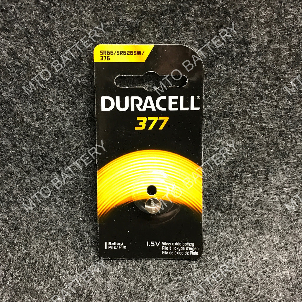377 Duracell 1.5V Silver Oxide Coin Cell D377