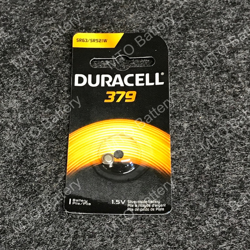 379 Duracell 1.5V Silver Oxide Coin Cell D379