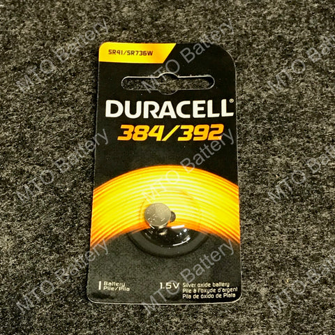 384/392 Duracell 1.5V Silver Oxide Coin Cell D384/392