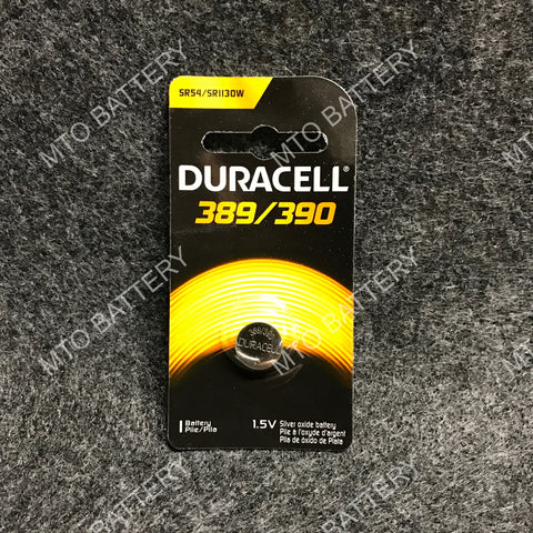 389/390 Duracell 1.5V Silver Oxide Coin Cell D389/390PK
