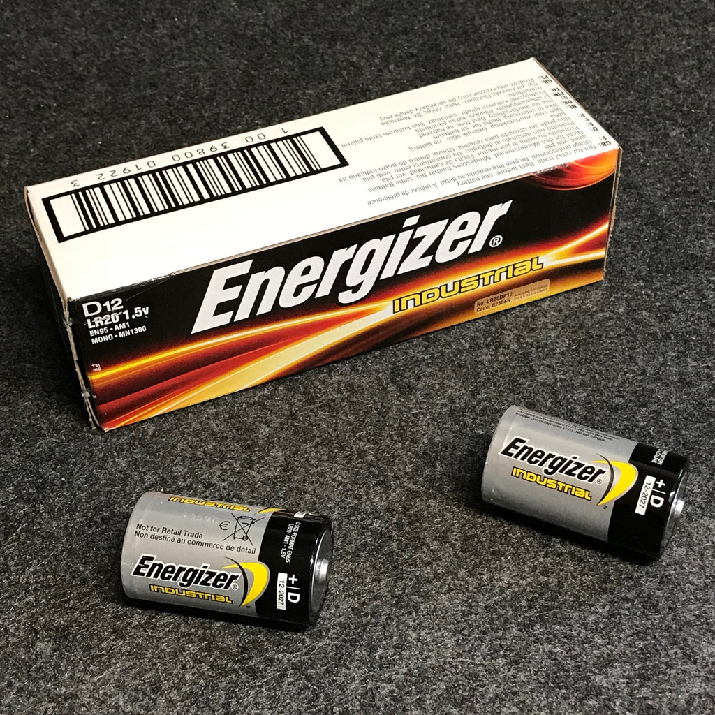 Bulk pack of 12pc of Energizer Industrial Alkaline D cells