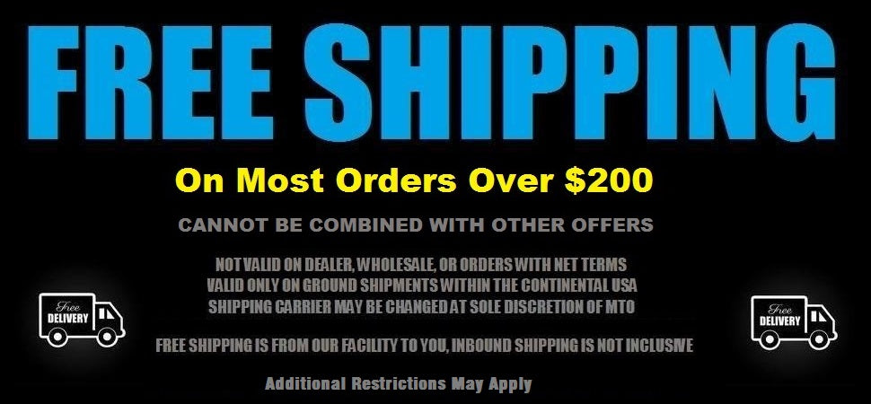 FREE SHIPPING ON MOST ORDERS WITHIN THE CONTINENTAL UNITED STATES