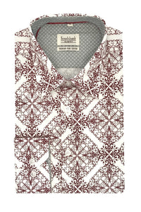Men's Floral Shirt Slim Fit - Land Mask - Southbank Attire