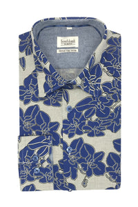Men's Floral Shirt Slim Fit - Bifa Dein - Southbank Attire