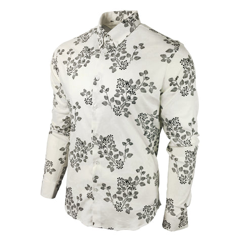Men's Floral Shirt Slim Fit - Bio Ben