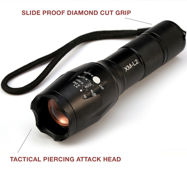 Super Powerful Aluminum Zoomable LED Tactical Flashlight