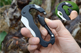 5 in 1 Foldable Carabiner Multi Tool Knife