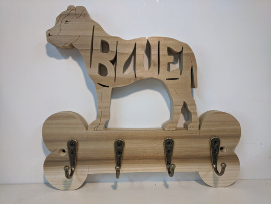 Key/Leash Holder with CUSTOM NAME in Body
