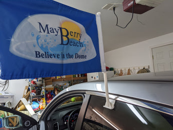 Mayberry Beach Car Flag