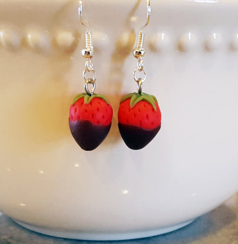 Chocolate Strawberry Earrings