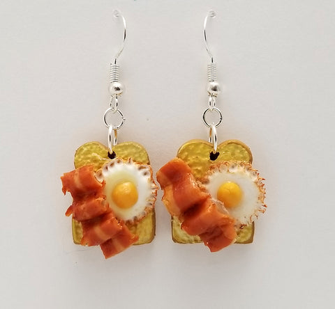 Egg and Bacon Breakfast Earrings - Food Earrings