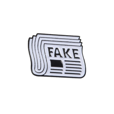 Fake News Newspaper Enamel Pin