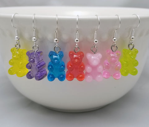 Gummy Bear Candy Earrings - Food Jewelry