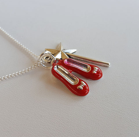 Ruby Red Slippers Necklace A
