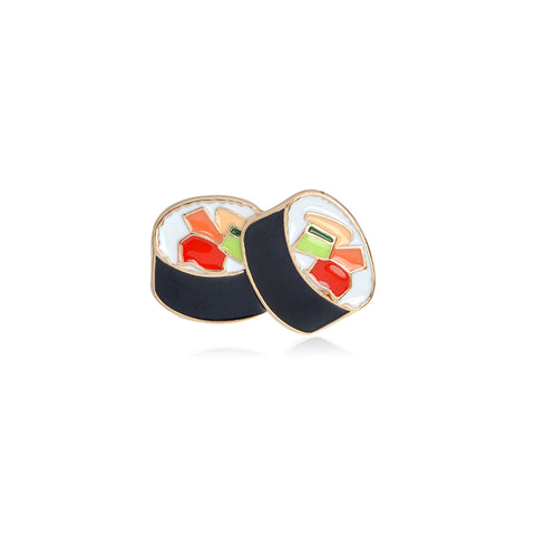 Sushi Roll Enamel Lapel Food Pin Brooch