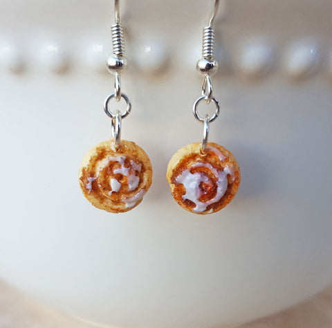 Cinnamon Roll Earrings