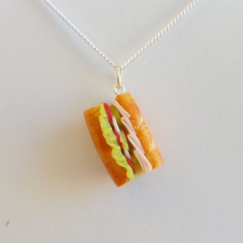 Turkey Sub Sandwich Necklace