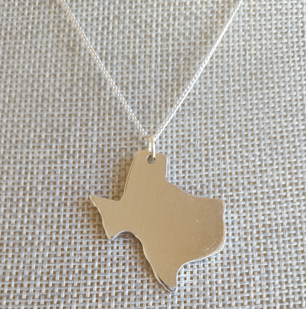 State Charm Necklace, Texas Necklace