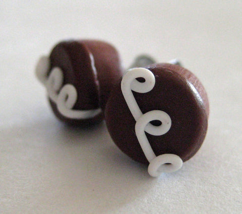 Hostess Chocolate Cupcake Earrings