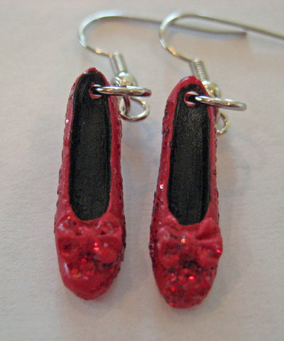 Ruby Red Slipper Earrings