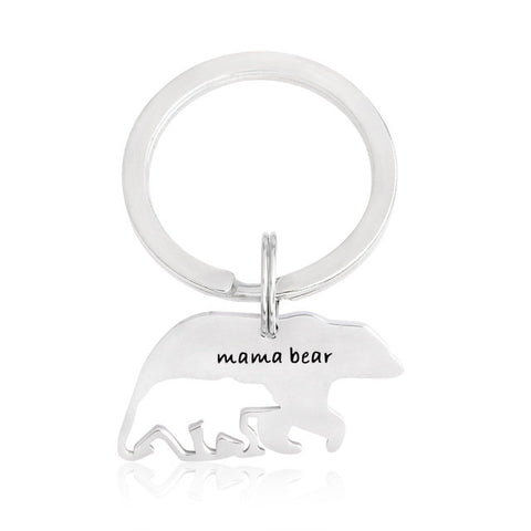 Mama Bear Keychain, Baby Bear Key Ring