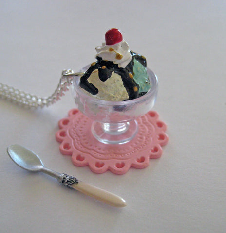 Ice Cream Sundae Necklace