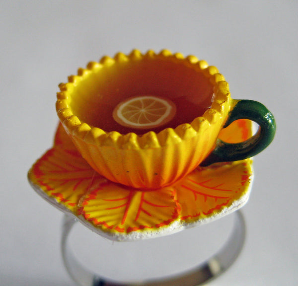 Sunflower Teacup Ring