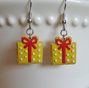 Birthday Present Sugar Cookie Earrings