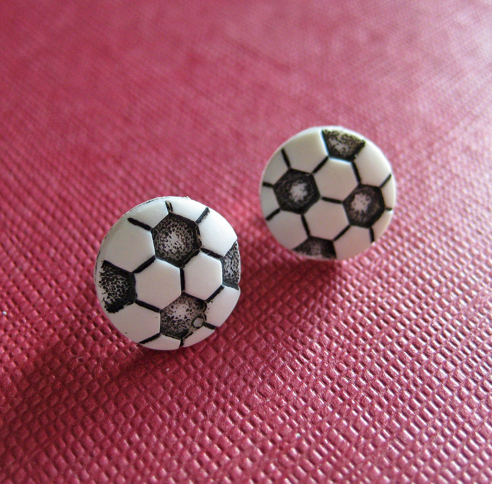 Soccer Ball Earrings