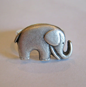 Elephant Ring -  Antiqued Silver