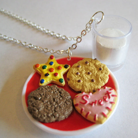 Cookies and Milk Charm Necklace