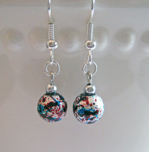 Christmas Ornament Earrings - Old Fashioned Bulb Ornaments