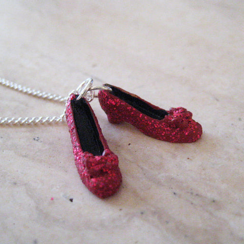 Ruby Red Slippers Necklace