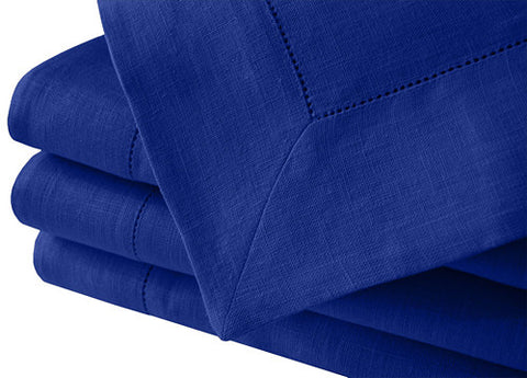 An elegant large pure linen deep royal blue tablecloth for many Nordic style table settings. Available in many large sizes. Fast and cheap worldwide shipping
