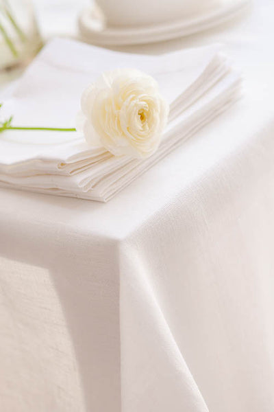 Classic Scandinavian Design, Nordic style large pure linen natural white hemstitch tablecloth in many extra large sizes available now! This eco-friendy linen tablecloth combines timeless elegance with modern and simple life style. Fast and cheap shipping worldwide.