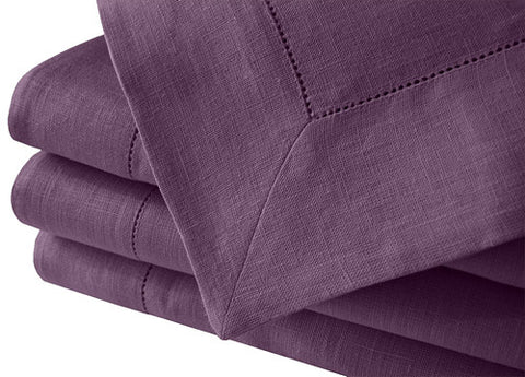 Muted violet pure linen tablecloth with hemstitched edge is great background for many kind of chic table settings as a wedding, birthday, baby shower etc. Fast and cheap shipping. Available in many large sizes