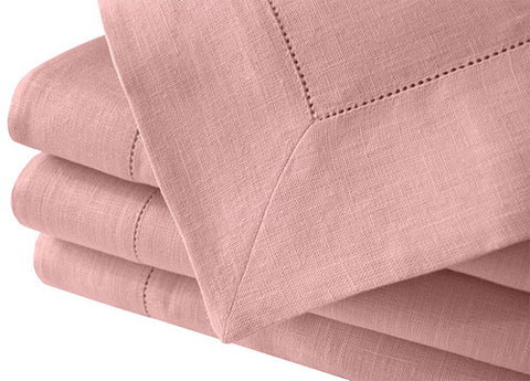 Pastel pale pink large Nordic style natural linen tablecloth suitable for summer parties, weddings, baby showers. Fast and cheap worldwide shipping.