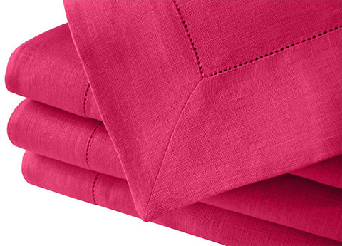 Romantic bright pink, fuchsia large linen tablecloth in many sizes. Suitable for weddings, birthday parties, summer dinners. Fast and cheap worldwide shipping