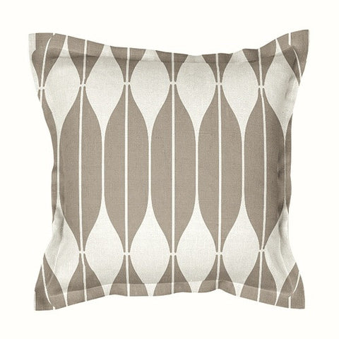 Unique sand beige 100% linen cushion covers, decorated with Scandinavian retro style print pattern COB. Zipper closure.