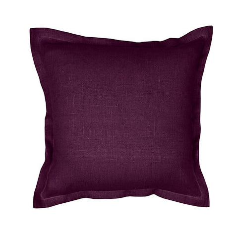 Beautiful purple 100% linen cushion cover. Simple, solid color linen cushion cover with 2cm (0.8 inches) wide extra shams. Zipper closure backside. Suitable for any style home decorations – rustic, shabby chic, or modern minimalistic Scandinavian style homes and public places.