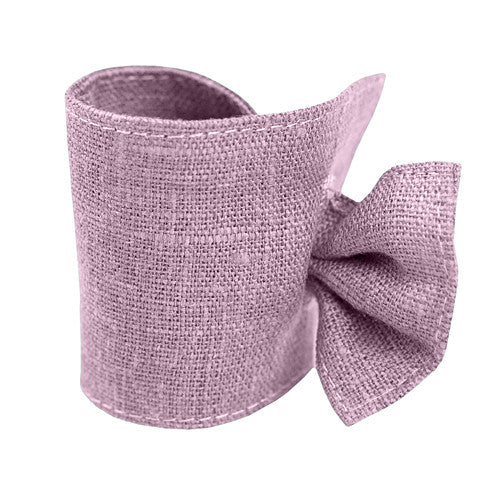 Lavender Linen Napkin Ring with Tie