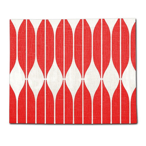 Red 100% Linen Placemat COB 35x42 cm