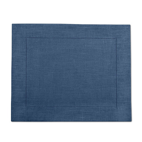 Navy Blue 100% Linen Placemat with Hem Stitch 37x45 cm
