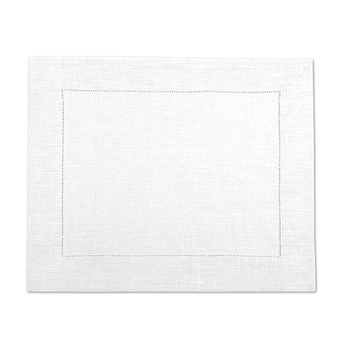 Natural White 100% Linen Placemat with Hem Stitch 37x45 cm