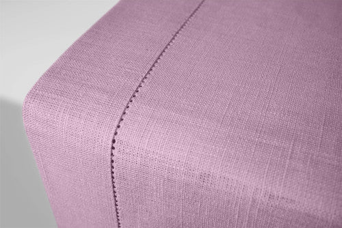 Lavender Lilac Linen Table Runner Hemstitch 140x45 cm / 55x18 inches