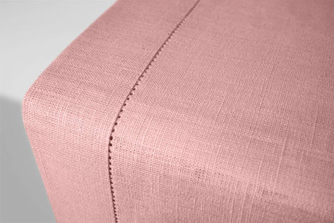 Pale Pink Linen Table Runner Hemstitch 140x45 cm / 55x18 inches